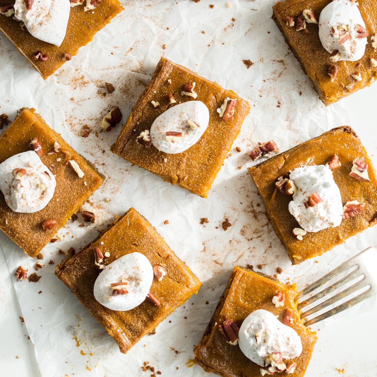 Vegan Pumpkin Pie Squares With Gluten Free Graham Cracker Crust Oh She Glows