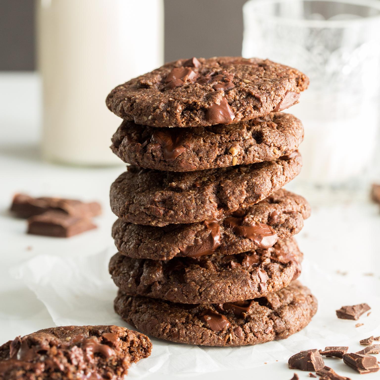How To Make Double Chocolate Chunk Cookies