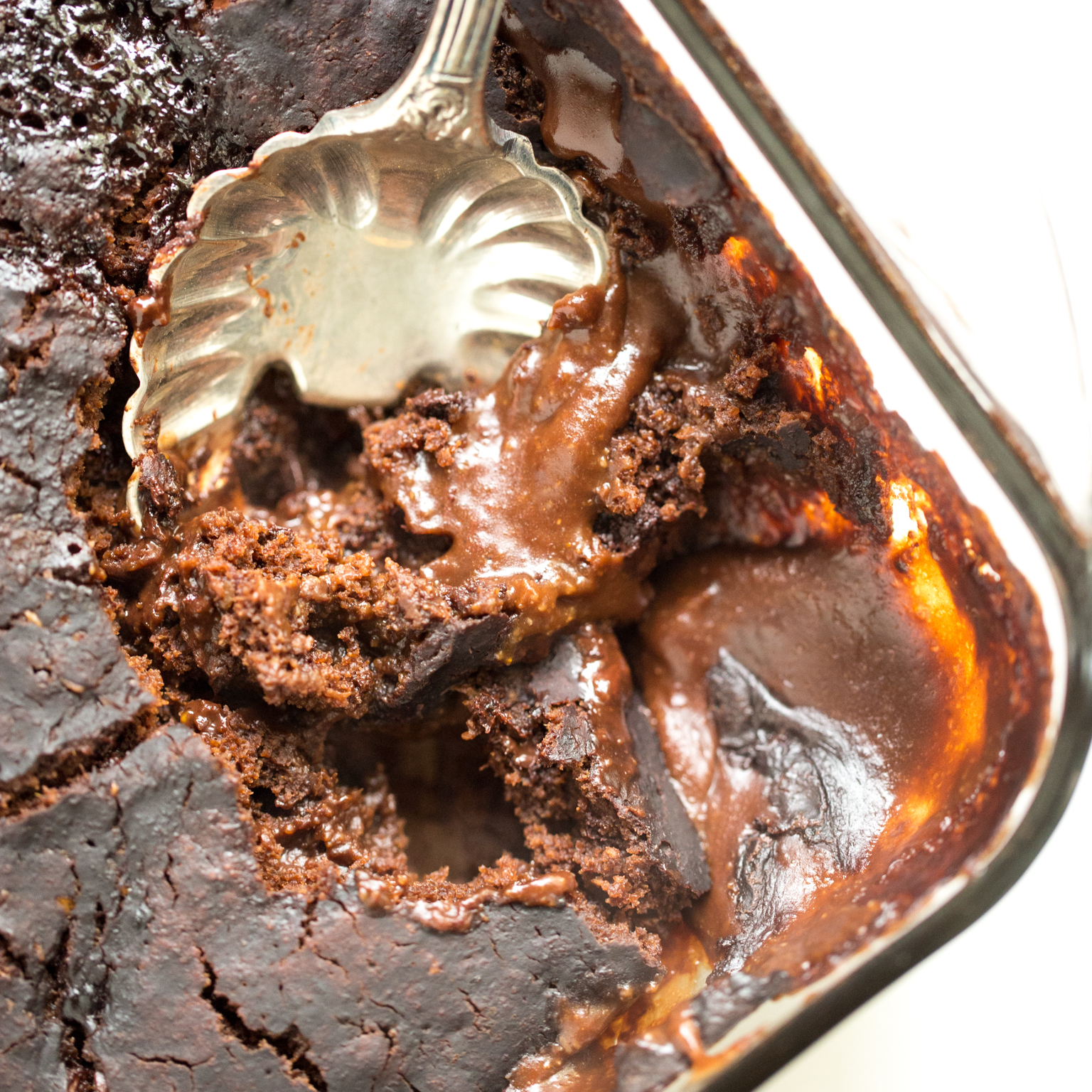 Gooey Pumpkin Spice Latte Chocolate Pudding Cake Vegan Gluten Free Oh She Glows