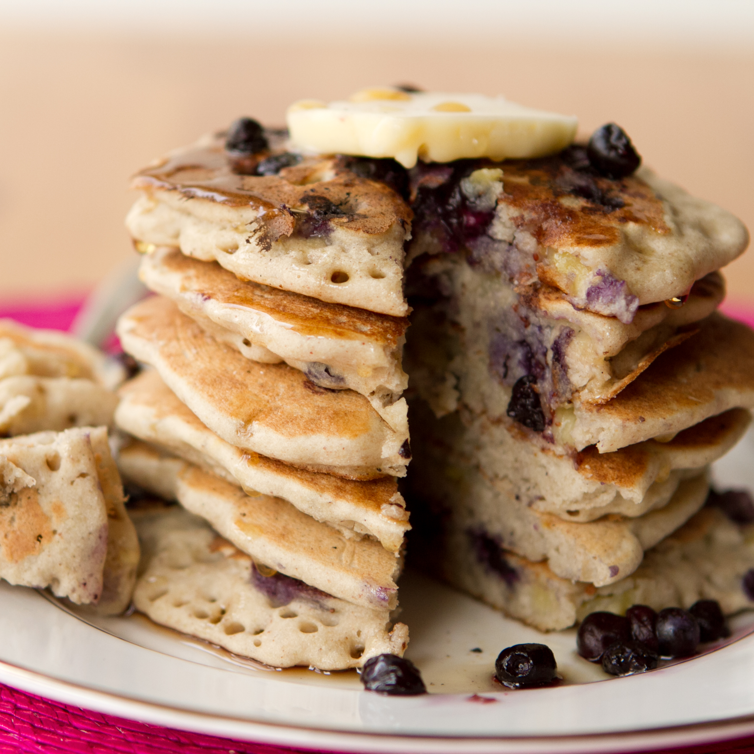 Vegan Gluten Free Vanilla Blueberry Buckwheat Pancakes Oh She Glows