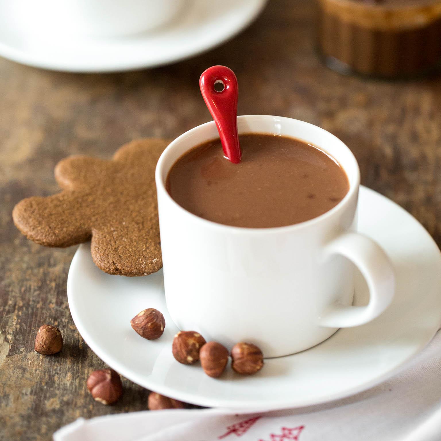 Homemade Nutella Hot Chocolate Vegan Oh She Glows