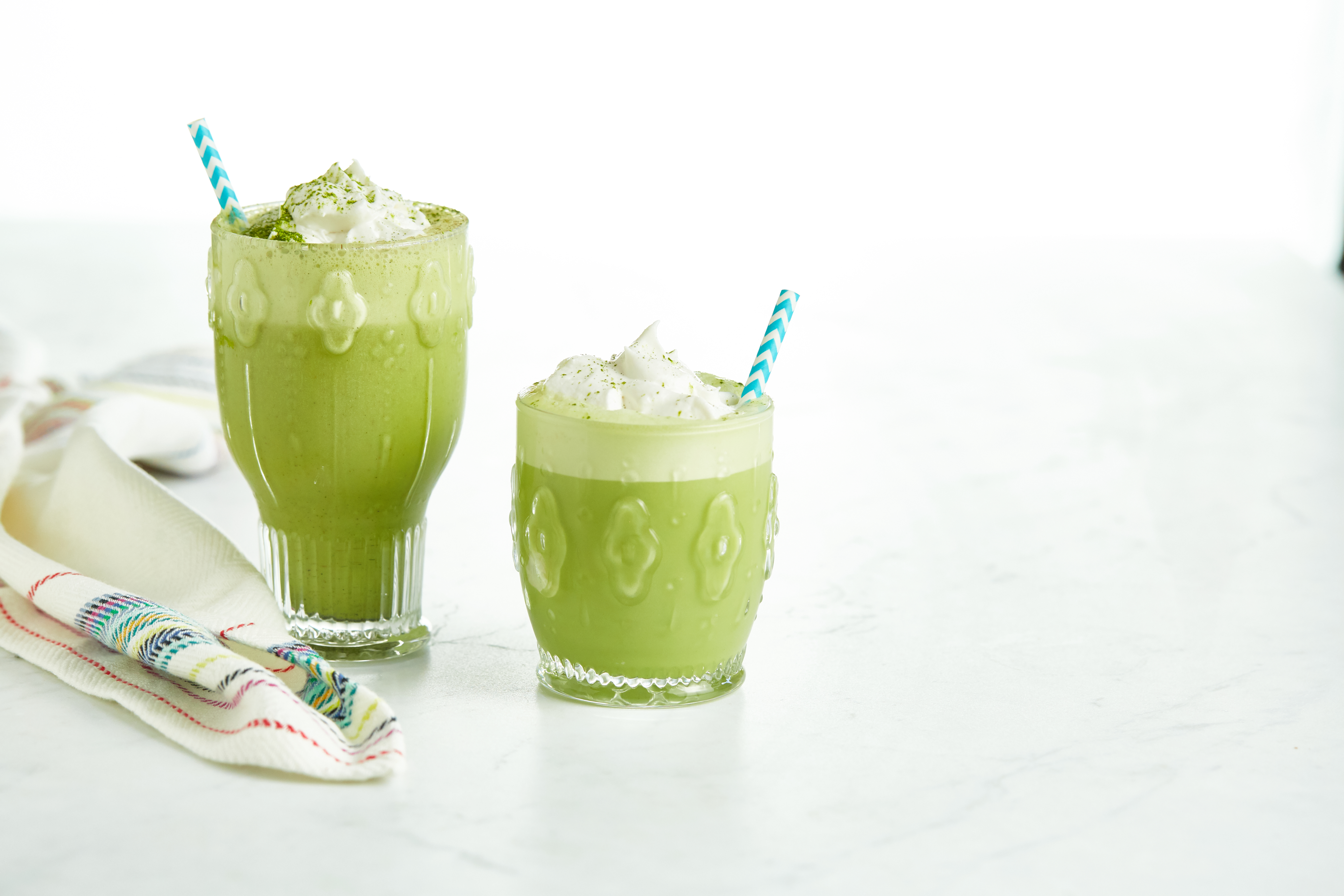 Iced Vanilla Bean Matcha Latte With A Twist Oh She