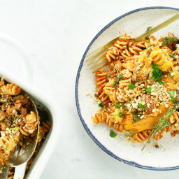 Cheesy Lentil Bolognese Casserole
