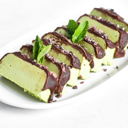 Vegan Peppermint Patty Slice