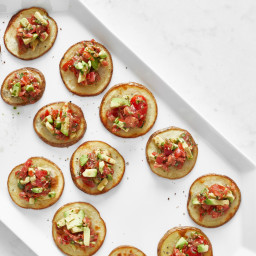 Game Night Crispy Potato Bruschetta