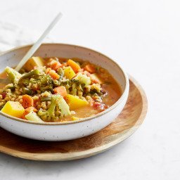 Cozy At Home Spicy Any-Veggie Soup