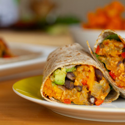 Black Bean and Butternut Squash Burritos