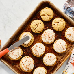Perfect Little Pumpkin Cookies with Spiced Buttercream