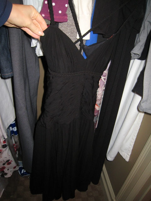 Black BCBG dress (I wore on my honeymoon!)