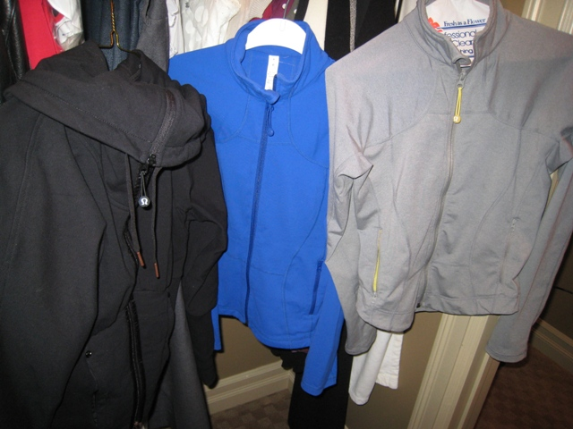 9) Lululemon jackets (to/from gym, with jeans or lulu pants)