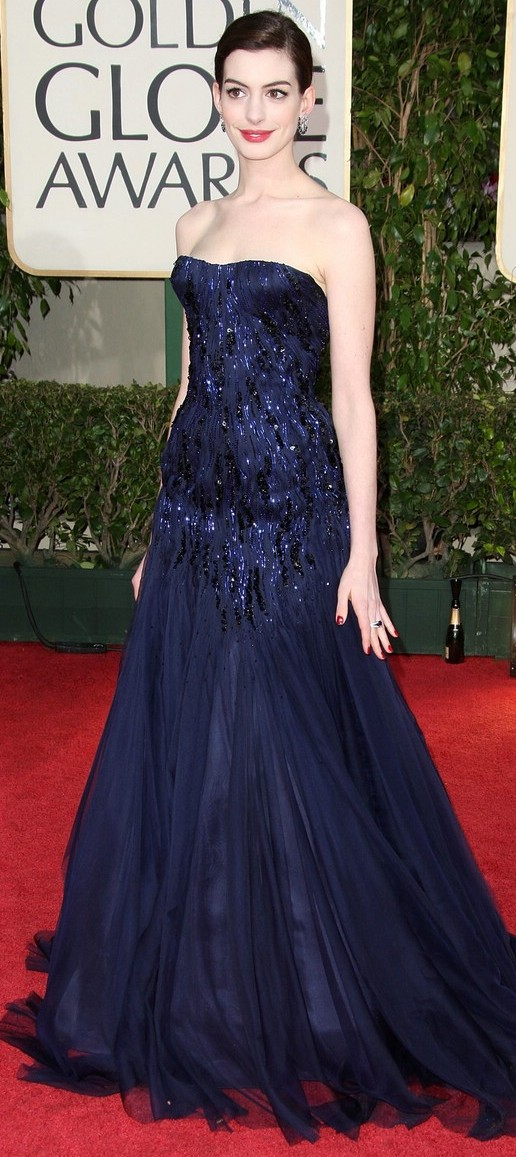 anne hathaway golden globes 2009 061   Salmon Vegetable Medley + Neal Brothers Video