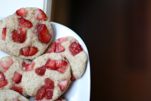 IMG 4062 thumb   Vegan Strawberry Spelt Biscuits