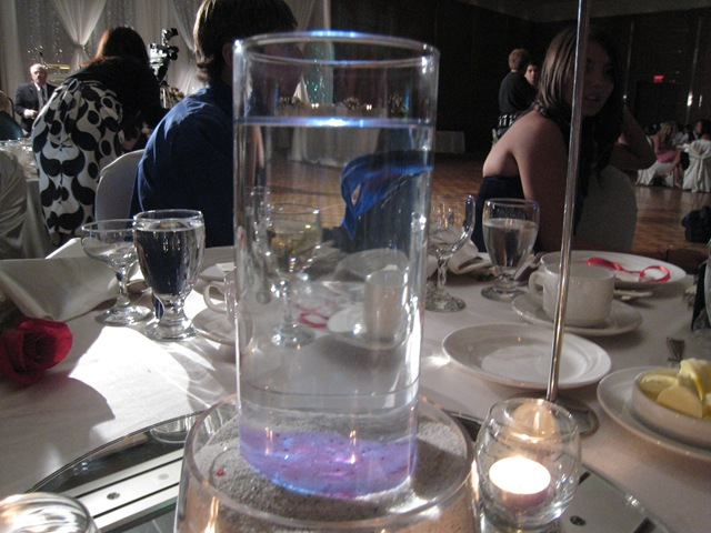 Goldfish bowl wedding centerpieces katy perry buzz for Fish centerpieces wedding receptions