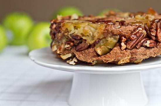 20101122IMG 2753 thumb   3 Layer Upside Down Apple Pecan Breakfast Cake