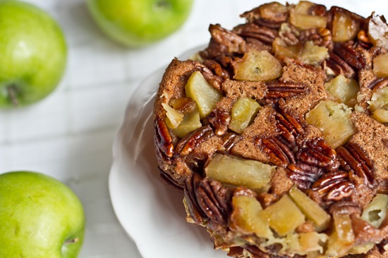 20101122IMG 2775 thumb   3 Layer Upside Down Apple Pecan Breakfast Cake