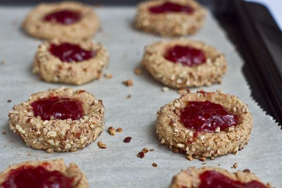 IMG 6373 thumb   Vegan Thumbprint Cookies