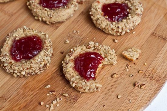 IMG 6380 thumb   Vegan Thumbprint Cookies
