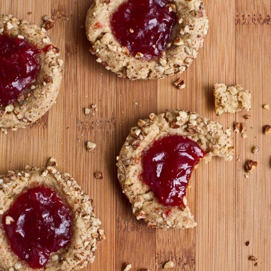 IMG 6393 2 thumb   Vegan Thumbprint Cookies