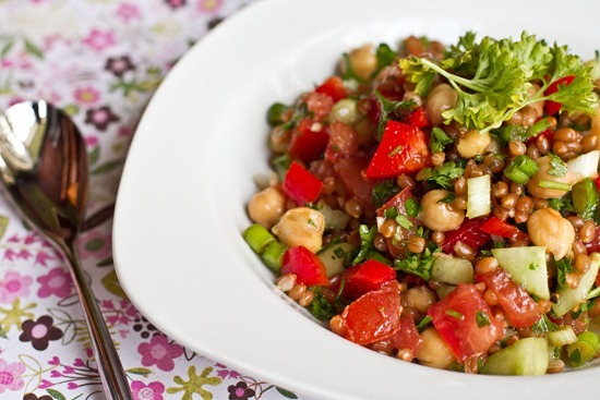 IMG 7685 thumb   Back On Track Wheat Berry and Bean Salad