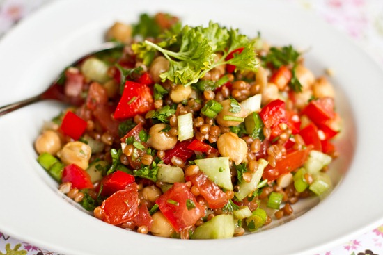 IMG 7688 thumb   Back On Track Wheat Berry and Bean Salad