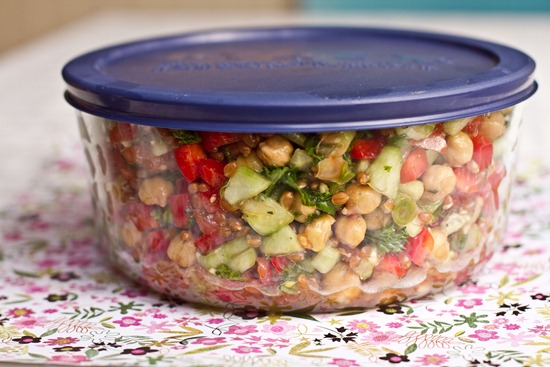 IMG 7696 thumb   Back On Track Wheat Berry and Bean Salad