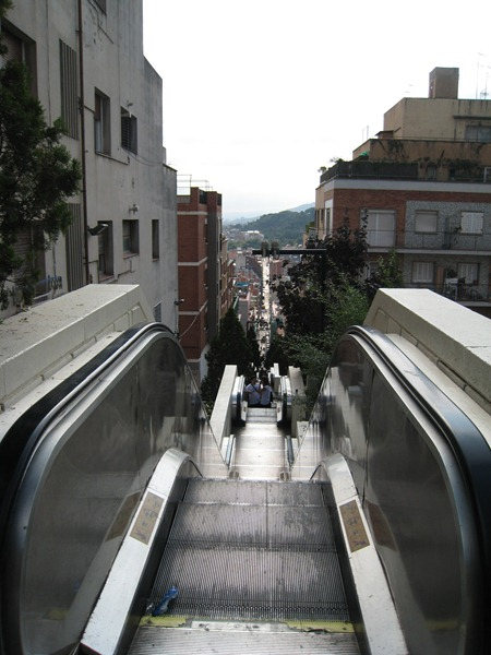 IMG 0223 thumb   Huge Outdoor Escalator in Barcelona