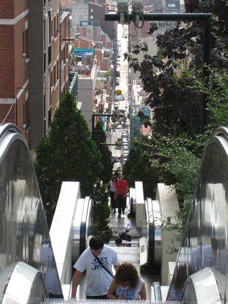 IMG 0224 thumb   Huge Outdoor Escalator in Barcelona