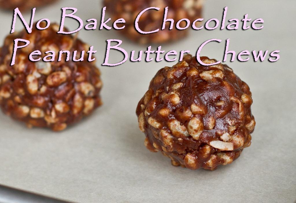 No Bake Chocolate Peanut Butter Chews – Oh She Glows
