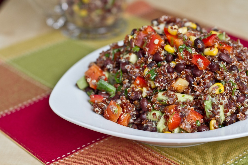 Red Quinoa and Black Bean Vegetable Salad — Oh She Glows