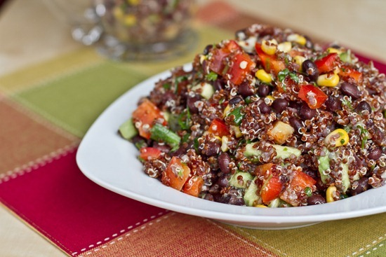 IMG 9499 thumb   Red Quinoa and Black Bean Vegetable Salad