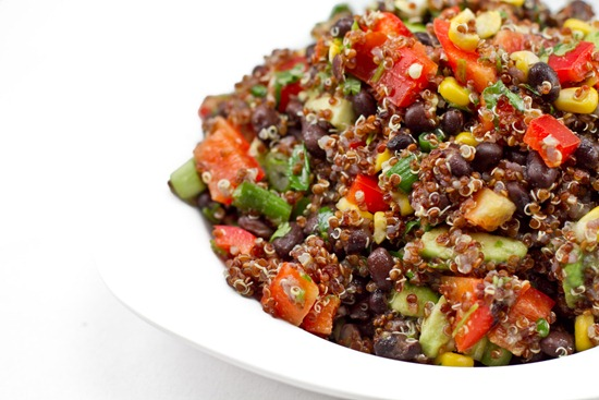 IMG 9501 thumb   Red Quinoa and Black Bean Vegetable Salad