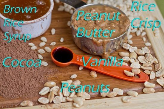 IMG 9972b thumb   No Bake Peanut Butter Chocolate Crispies with PB 'Fudge'