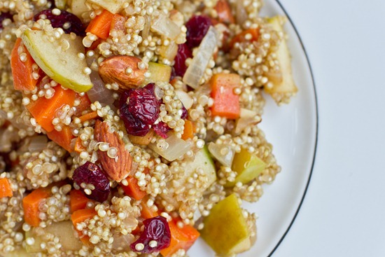 IMG 08051   Lovely & Light Cranberry, Apple, and Almond Quinoa