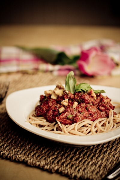 IMG 1038   Tomato Walnut Basil Pasta