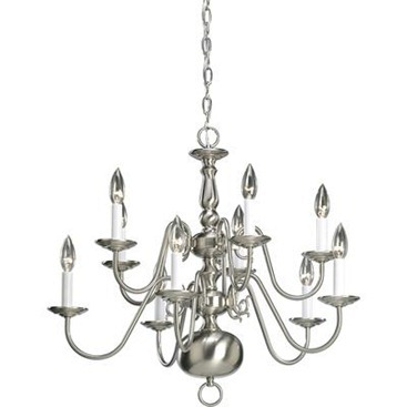 Americana Collection Brushed Nickel 10-light Chandelier