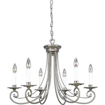 Bradford Collection Antique Nickel 6 light Chandelier   Chandeliers  Which One Is Your Fav?