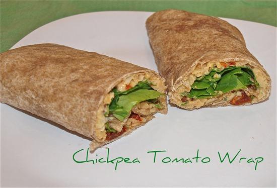 Chickpea Tomato Wrap