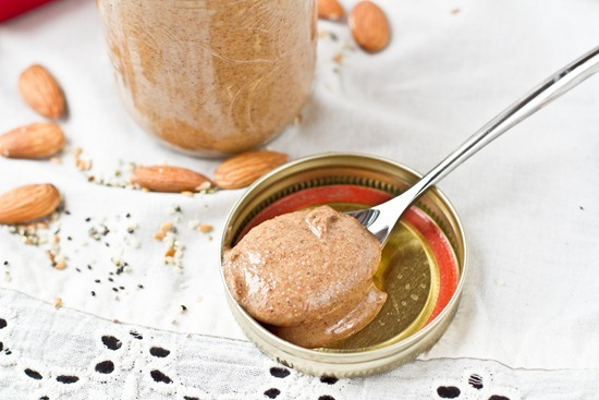 IMG 2672   Maple Cinnamon Almond Butter with Hemp, Flax, and Chia Seed