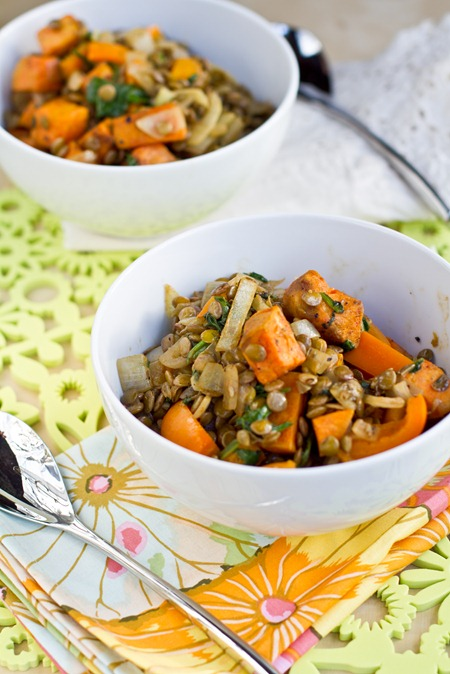 Sweet Potato and Lentil Salad + Cookie Dough VOO — Oh She ...
