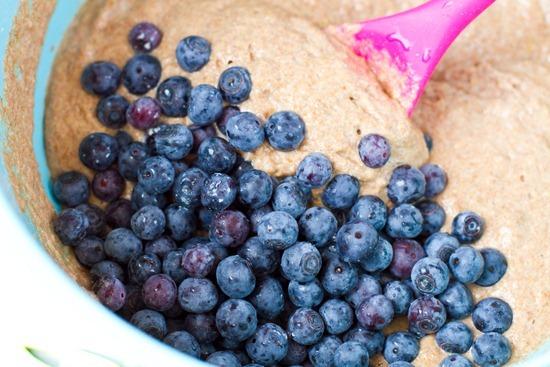 IMG 3280   Mini Whole Wheat Blueberry Breakfast Muffins