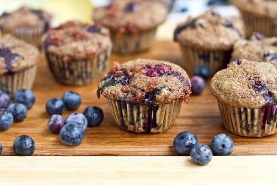 IMG 3319   Mini Whole Wheat Blueberry Breakfast Muffins