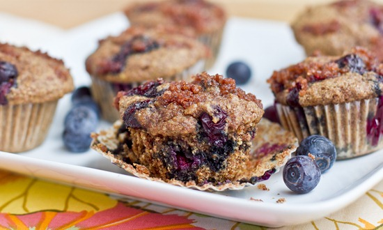 IMG 3340   Mini Whole Wheat Blueberry Breakfast Muffins
