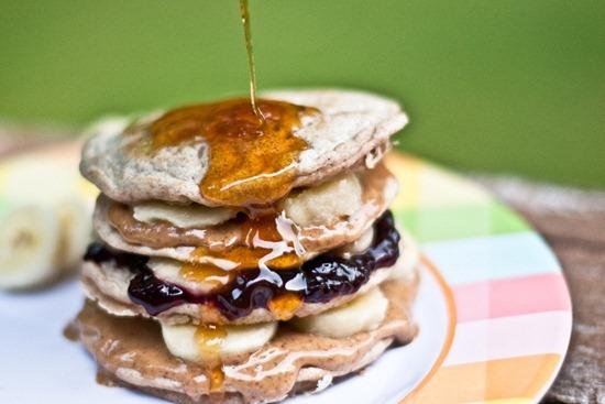 IMG 5320   Maple Peanut Butter, Banana & Jam Pancake Stack