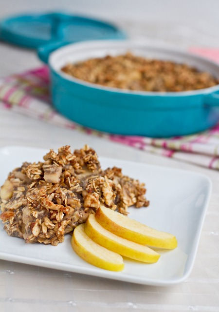 IMG 4986   Fruity Baked Oatmeal with Crunchy Cinnamon Almond Topping