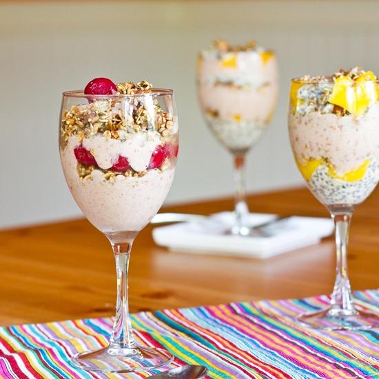 Mango Breakfast Parfait with Cherry-Banana Soft Serve — Oh ...