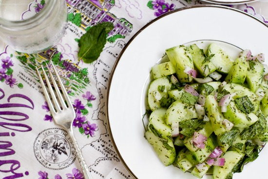 Refreshing Cucumber Salad with Creamy Mint Dressing — Oh ...