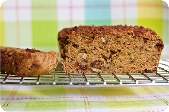 IMG 7463   Oil Free Zucchini Walnut Raisin Loaf with Cinnamon Streusel