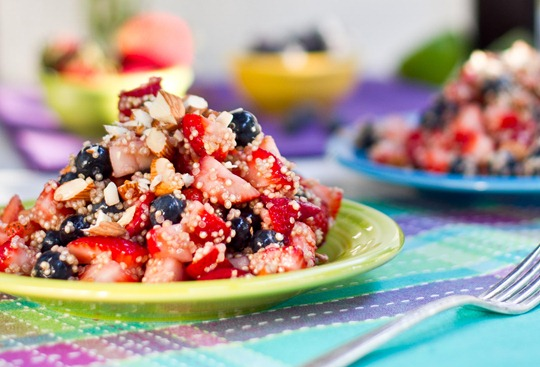 IMG 7655 2   High Protein Quinoa Almond Berry Salad
