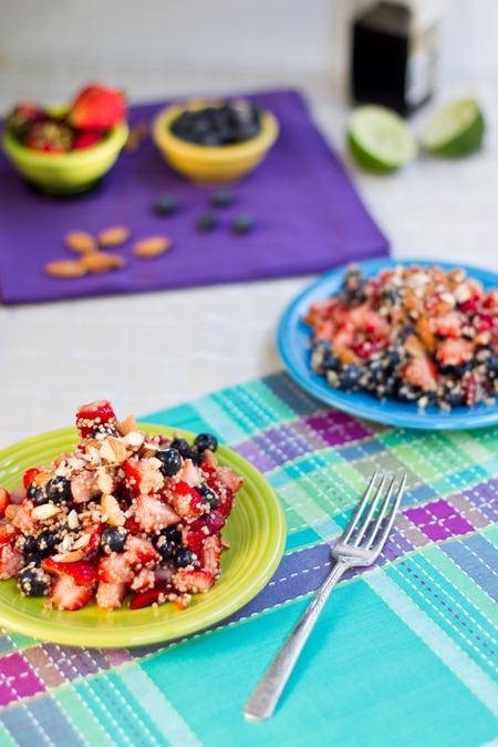 IMG 7664   High Protein Quinoa Almond Berry Salad