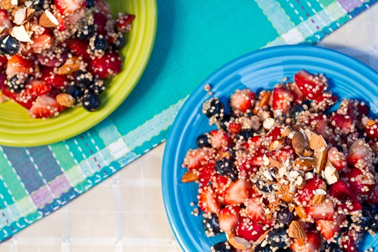IMG 7670   High Protein Quinoa Almond Berry Salad